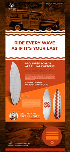 Big Kahuna Surfboards by Lukasz Kulakowski, via Behance
