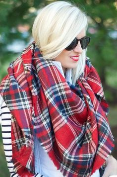 Love the tartan scarf!