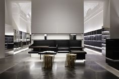 {Have been seeing more and more of Vincenzo De Cotiis lately - even featured a project of his last week. that's why his firm is today's Friday Feature.} This new store in Milan, Antonia, is a. Interior Design Inspiration, Home Interior Design, Interior Architecture, Interior Concept, Space Interiors, Shop Interiors, Shenzhen, Fashion Store Design, Architecture