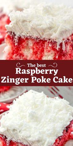 Poke Cake Recipes, Poke Cakes, Cupcake Cakes, Dessert Recipes, Cupcakes, Desserts To Make, Delicious Desserts, Yummy Food, Zinger Cake Recipe
