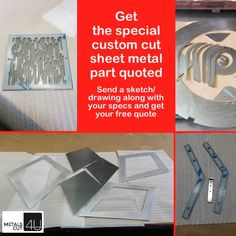 Get a free quote based on your drawing and specs for your #metal part. The best way to get your metal #DIY #homerepair #homeimprovement #renovation #project done. #metalquote via MetalsCut4U.com