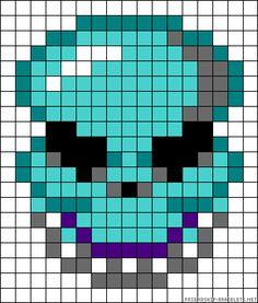Halloween skull perler bead pattern