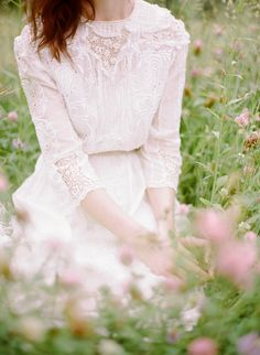 Delicate Wildflower Wedding Ideas on oncewed.com | shopgossamer.com dresses