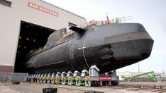 Britain's third £1 billion Astute Class nuclear submarine, Artful, was lowered into the water at Barrow-in-Furness on Saturday, 17 May.