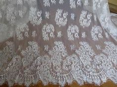 Beautiful Floral Lace Fabric in Off white for by prettylaceshop, $13.99