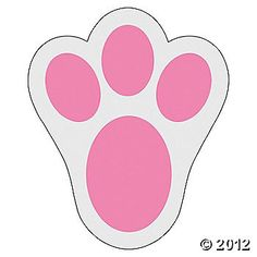 These 12 pink Bunny Paw Prints Floor Decal Clings would be perfect for putting out on the floor after the Easter Bunny comes. Then the kids will find them, and know the Easter Bunny Easter Projects, Easter Crafts For Kids, Easter Ideas, Bunny Paws, Bunny Rabbit, Rabbit Ears, Rabbit Hole, Bunny Templates, Bunny Ears Template