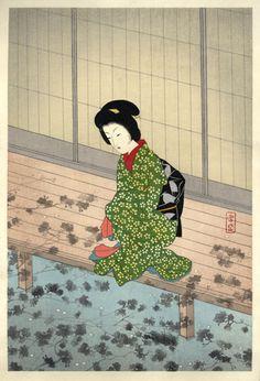 小村雪岱木版画 「花の影」