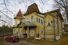 A dacha in Sestroretsk near St Petersburg, Russia.