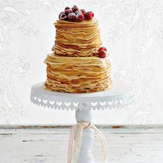 caramel cream pancake cake- looks fabulous! Cupcakes, Cake Cookies, Cupcake Cakes, Crepes, Sweet Recipes, Cake Recipes, Dessert Recipes, Desserts, Pancake Cake