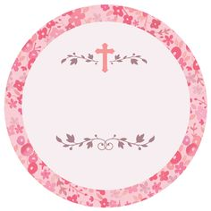 Round Pink Communion Label