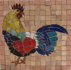 Large Mosaic Rooster for backsplash!