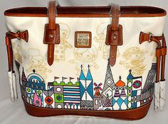 NWT FACTORY SEALED Disney It's A Small World 50th Dooney & Bourke Purse Bag