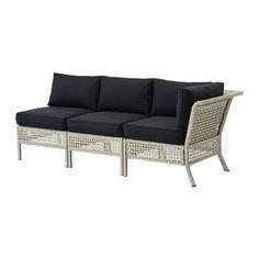 KUNGSHOLMEN / KUNGSÖ Sofa, outdoor - light gray/black - IKEA