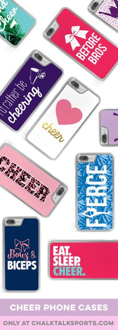 Three cheers for these super cute cheerleading phone cases! Cute Cheerleading Gifts, Cheerleading Jumps, Cheer Stunts, Cheer Dance, Cheer Bows, Cheer Sister Gifts, Cheer Gifts, Sports Gifts, Team Gifts