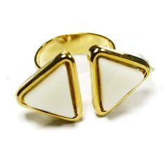 anillo triangulos trivial veraniego, super original!!
