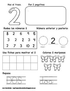 Números hasta el 10 - modificado Math 4 Kids, Kindergarten Math Activities, Math Literacy, Preschool Worksheets, Spanish Lessons For Kids, Learning Spanish, Simple Math, Pre Writing, Home Schooling