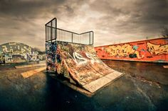 Ramp - Hoarding Skatepark Graffiti is a Unique Urban Art Form Urban Architecture, Skate Park, Artistic Photography, Urban Art, That Way, Art Forms, Graffiti, Street Art, Around The Worlds