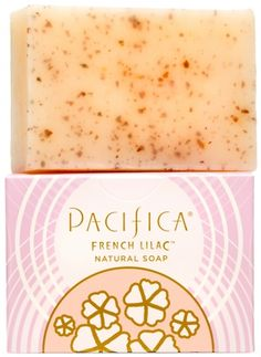 Love French Lilacs? Then you'll LOVE Pacifica French Lilac Natural Soap - Gluten Free Natural Vegan Soap Bar - Perfumed in a traditional French style, this fresh scent conjures spring with a blend of Lilac, Magnolia Leaves, Heliotrope, Ylang Ylang, Hyacinth + subtle notes of Nectarine. Pacifica French Lilac is truly the best Lilac ever #Vegan #SoapBar #Soap #Pacifica #FrenchLilac #Aromatherapy