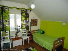 Vihreän pikkumonsterin unelmahuone odottaa uutta asukkia Heinolassa ;)