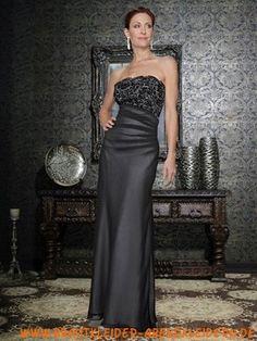 Spitze Satin ausfallennes schwarzes Abendkleid