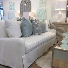 If furnishing or redecorating your living room is on your Christmas list, this sofa is as comfortable as it is beautiful. In stock today with matching chairs and a half!  #shopbeauinteriors #shopbeauhomeinteriors #sowal #shop30a
