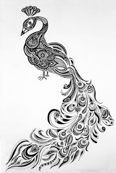image result for peacock henna