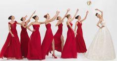 2012 Rosa Clara Pretty Bridesmaid with long dress. Red, Pink and Violet Bridesmaid Dresses Red Bridemaids Dresses, Red Bridesmaids, Wedding Bridesmaid Dresses, Bridal Dresses, Girls Dresses, Prom Dresses, Lace Dresses, Pretty Dresses, Red Wedding