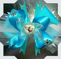 Frozen bow made by Norma's Unique Gift Baskets.$5.00