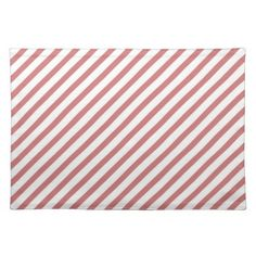 Coral and White Stripes placemat