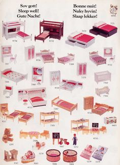 lundby catalogue 1985 Vintage Dollhouse, Modern Dollhouse, Diy Dollhouse, Vintage Dolls, Dollhouse Miniatures, Miniature Rooms, Miniature Houses, Miniature Furniture, Dollhouse Furniture
