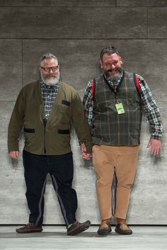 Costello Tagliapietra Fall 2015 Ready-to-Wear Fashion Show - Jeffrey Costello and Robert Tagliapietra Outfits For Big Men, Clothes For Big Men, Big And Tall Outfits, Mens Plus Size Fashion, Big Men Fashion, Big And Tall Style, Mens Big And Tall, Plus Size Men, Bear Men