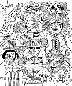 Just Add Color: Circus: 30 Original Illustrations To Color, Customize, and Hang: Sarah Walsh: 9781592539499: Amazon.com: Books