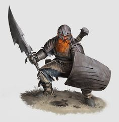 Dwarven warrior by 12ddd34