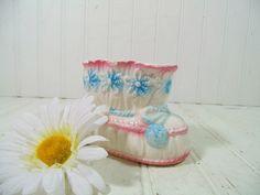 Vintage Relpo Ceramic Pastel Baby Bootie Figure by DivineOrders, $9.00
