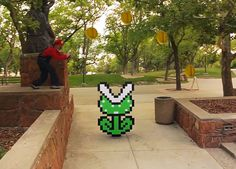 super mario brothers come to life with parkour