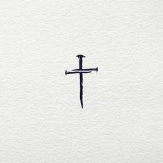 negative space cross tattoos \ negative space cross tattoos , cross tattoos for men negative space Little Cross Tattoos, Small Cross Tattoos, Cross Tattoos For Women, Simple Cross Tattoo, Feminine Cross Tattoo, Cross Tattoo On Wrist, Cross Neck Tattoos, Pretty Cross Tattoo, Tiny Tattoo