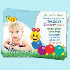 Caterpillar Invitation Baby Einstein Birthday by CupcakeDream, $14.00