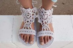 Hemp Crochet Shoes