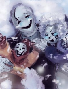 First time in Snowdin with my little boys by paurachan on DeviantArt