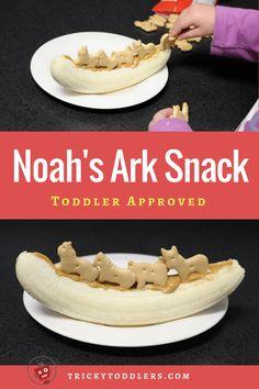 So cute and easy Noah's Ark snack!  faithfullittlehands.com