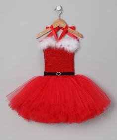 Red Mrs. Claus Tutu Dress - Infant, Toddler & Girls