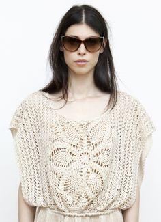 Boheme look! Summer dress, 100% handmade in crochet