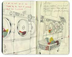 wasmachines... we dacht ze ooit mooi te kunnen tekenen?