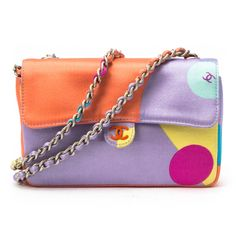 Chanel Two-Way Chain Shoulder Bag in Multicolor - kind of retro looking too!