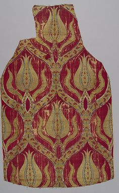 FragmDate: 16th century Geography: Turkey, Bursa Culture: Islamic Medium: Silk, metal wrapped thread; lampas (kemha) Dimensions: Textile: L. 44 in. (111.8 cm) W. 26 3/4 in. (67.9 cm) Classification: Textiles-Woven Credit Line: Purchase, Joseph Pulitzer Bequest, 1952 Accession Number: 52.20.19ent
