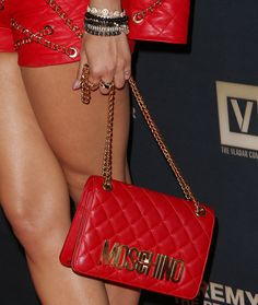 """Rita Ora Is Red Hot in Moschino Ensemble and Stuart Weitzman Heels at """"Jeremy Scott: The People's Designer"""" Premiere"""