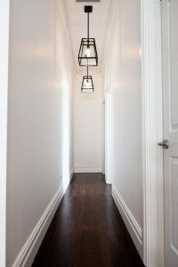 How to make a dark hallway or staircase feel brighter with paint colour by Home Nerd Hall Lighting, Entryway Lighting, Lighting Ideas, Lighting Stores, Pendant Lighting, Cottage Lighting, Sol Sombre, Hallway Light Fixtures, Hallway Ceiling Lights