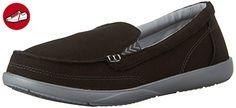 Crocs - Frauen Walu II Canvas Loafer, EUR: 33.5, Black/Graphite (*Partner-Link)