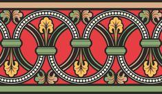 Средневековый векторный орнамент Textile Pattern Design, Pattern Art, Border Pattern, Border Design, Craftsman Wallpaper, Textile Prints, Art Prints, Folk Art Flowers, Border Embroidery Designs