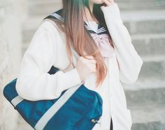 ○•SCHOOL GiRL~•○ school uniform - -  seifuku - - bow tie - - sailor uniform - - cardigan - - sweater - - school bag - - kawaii